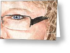 The Eyes Have It - Donna Greeting Card