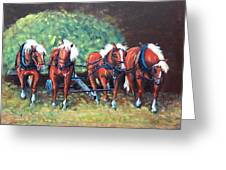 The Fabulous Four Greeting Card by Jean Ann Curry Hess