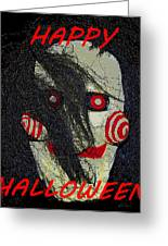 The Face Halloween Card Greeting Card