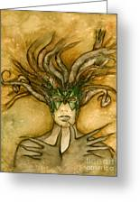 The Face Of Dryad Greeting Card