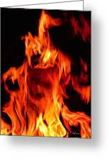 The Face Of Fire Greeting Card