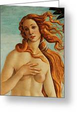 The Face Of Venus Greeting Card