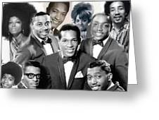 The Faces Of Motown Greeting Card