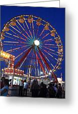 The Fair At Night Greeting Card