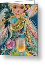 The Fairies Of Wine Series - Chardonnay Greeting Card