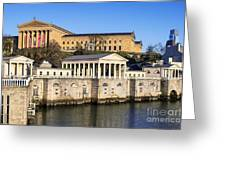 The Fairmount Water Works And Art Museum Greeting Card