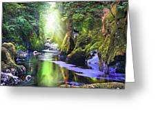 The Fairy Glen Gorge River Conwy Greeting Card