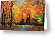 The Fall At Best Greeting Card