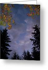 The Fall Evening Sky Greeting Card