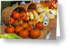 The Fall Harvest Is In Kendall Square Farmers Market Greeting Card