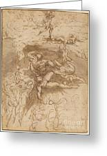 The Fall Of The Rebel Angels [recto] Greeting Card