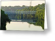 The Falls And Roosevelt Expressway Bridges - Philadelphia Greeting Card