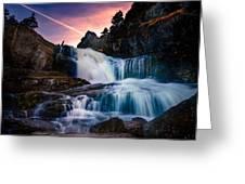 The Falls At Flatrock Greeting Card