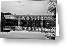 The Falls Bridge From Kelly Drive Greeting Card