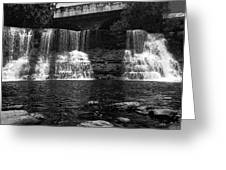 The Falls In Black And White Greeting Card