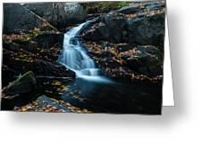 The Falls Of Black Creek In Autumn II Greeting Card
