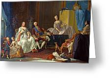 The Family Of Philip Of Parma  Greeting Card