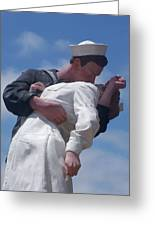 The Famous Ww2 Statue In San Diego  Greeting Card