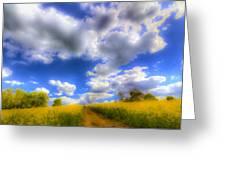 The Farm Art Vista Greeting Card