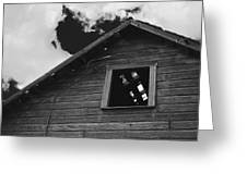 The Farm In Black And White Greeting Card