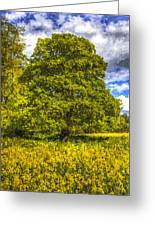 The Farm Tree Art Greeting Card