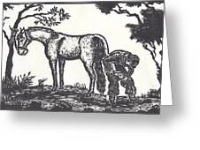The Farrier Trims Geronimo Greeting Card