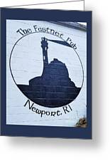 The Fastnet Pub Mural, Newport R. I. Greeting Card