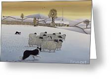 The Fells In Winter Greeting Card