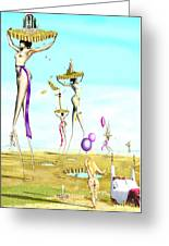 The Female Deity Sending Out Her Minions To Gather Male Religious Symbols One Greeting Card