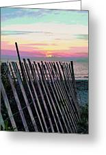 The Fence II  Greeting Card