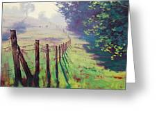 The Fence Line Greeting Card