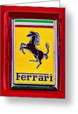 The Ferrari Logo Greeting Card