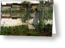 The Ferry Greeting Card by William Stott