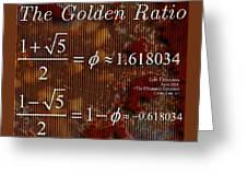 The Fibonacci Equation Catus 1 No. 1 H  Greeting Card