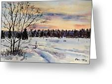 The Fields After Snow Greeting Card