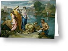 The Finding Of Moses Greeting Card