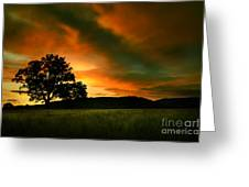 The Fire On The Skies Greeting Card