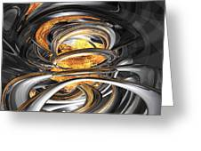 The Fire Within Abstract Greeting Card