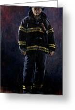 The Firefighter  Greeting Card
