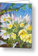The First Flowers After Winter Greeting Card