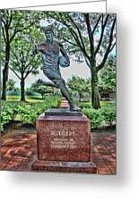 The First Football Game Monument Greeting Card