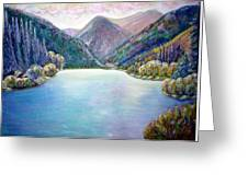 The First Frosty Morning At The Lake Greeting Card