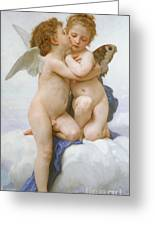 The First Kiss  Greeting Card by William Adolphe Bouguereau