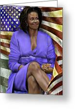 The First Lady-american Pride Greeting Card by Reggie Duffie