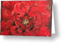 The First Red Poppie. Greeting Card