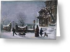 The First Snow, 1877 Greeting Card