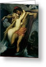The Fisherman And The Syren Greeting Card