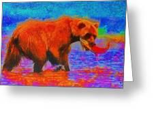 The Fishing Bear - Da Greeting Card