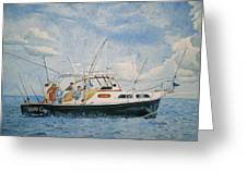 The Fishing Charter - Cape Cod Bay Greeting Card