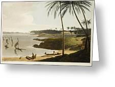 The Fishing Cove Near Columbo Greeting Card